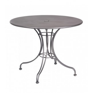 13l4ru36 36 Round Solid Top Wrought Iron Commercial Restaurant Dining Cafe Table Ornate Base